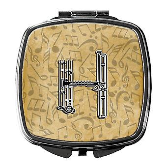 Letter H Musical Instrument Alphabet Compact Mirror