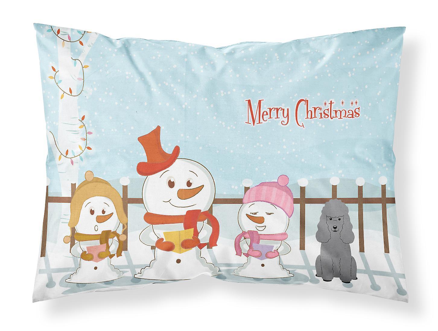 Noël chanteurs Standard Du Tissu caniche D'oreiller Argenté Taie Joyeux E9IH2YWD