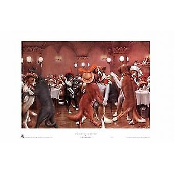 New Years Eve in Dogville Poster Print von Cassius Marcellus Coolidge (14 x 10)