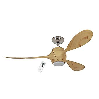 Energy-saving ceiling fan Eco Fiore RP Chrome brushed 142 cm / 56
