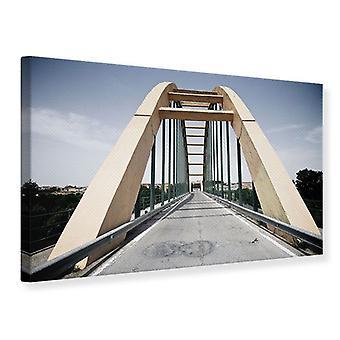 Canvas Print Imposing Suspension Bridge