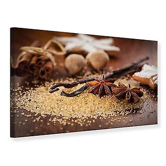 Canvas Print Christmas Spices