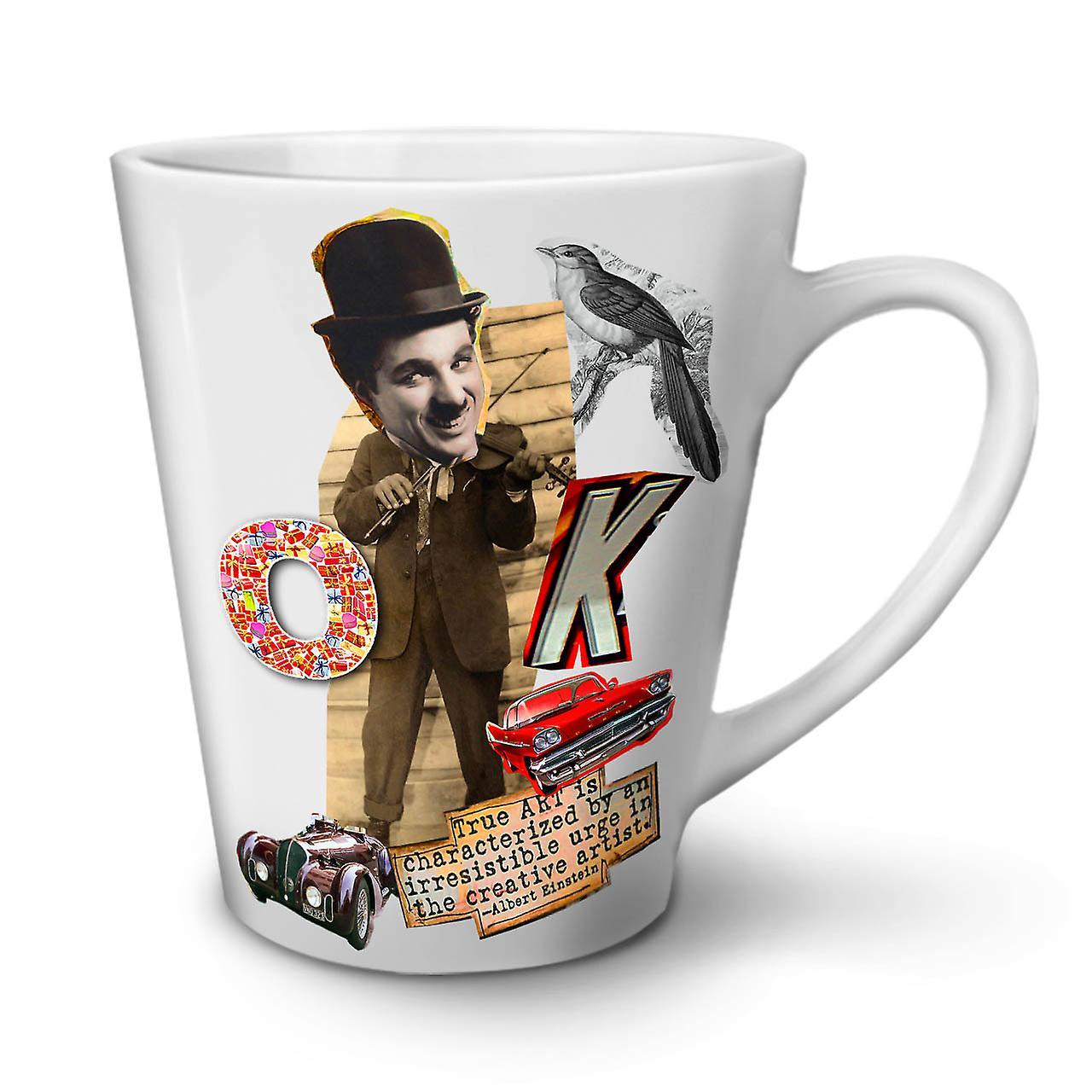 Charlie De En Chaplin Nouvelle Café Céramique OzWellcoda Tasse Thé Blanc 12 Latte vNOn0wm8