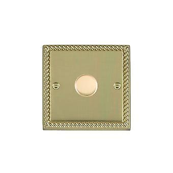 Hamilton Litestat Cheriton Georgian Polished Brass 1g 300VA 2 Way Dimmer PB