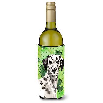 Dalmatian St. Patrick's Wine Bottle Beverge Insulator Hugger