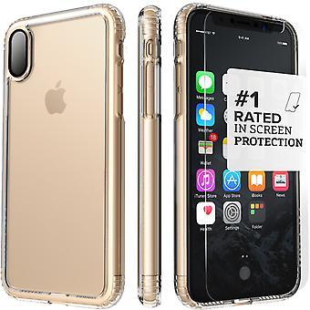 SaharaCase iPhone X caja de cristal, paquete de Kit de protección claro con ZeroDamage de cristal templado
