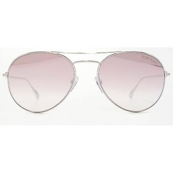 Tom Ford Ace-02 Sunglasses In Shiny Rhodium Lilac