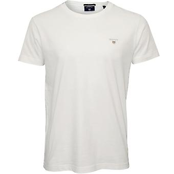 Gant Original Solid Crew-Neck T-Shirt, White