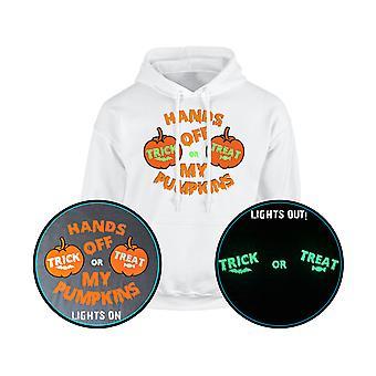 Hands Off My pumpor Trick eller behandla GLOW IN THE DARK Unisex Hoodie 10 färger (S-5XL) av swagwear