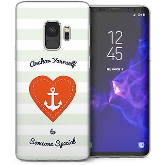 Samsung Galaxy S9 anker iemand speciaal bericht TPU Gel Case – wit