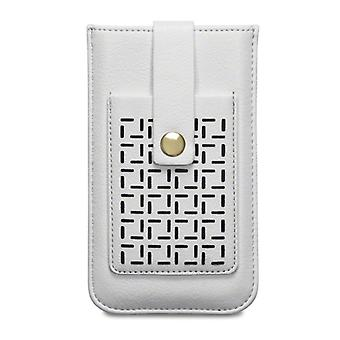 Covert Apple iPhone 6/6S Lexi Perforated Pattern Pouch Case Card Holder-Cream