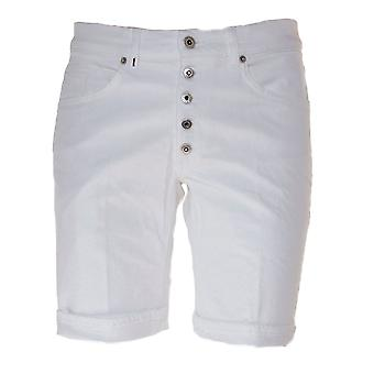 Dondup men's ROLLYPTD000 white cotton of shorts