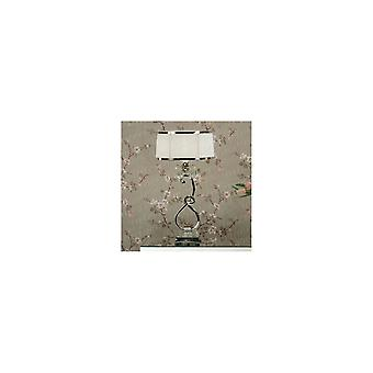 Interiors 1900 UL2TSN+UL2TNSHW Oksana Table Lamp In Nickel Finish With