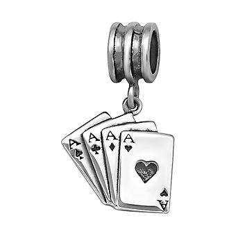 Playing Card - 925 Sterling Zilver platte parels - W29547X