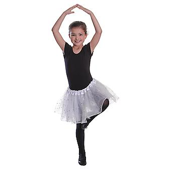 Tutu White with Sequin Stars Childs