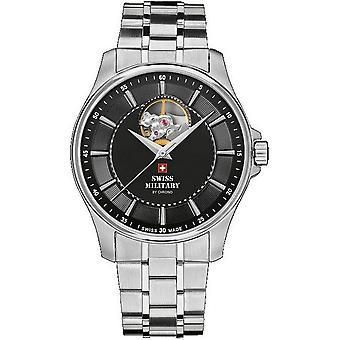 Swiss military mens watch automatic A14050ST-1 M open heart / SMA34050. 01