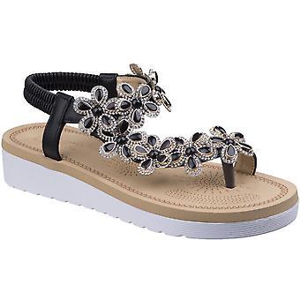 Divaz Womens/Ladies Natalie Toe Post Wedge Platform Flip Flop Sandals