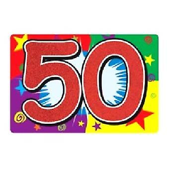 50 glitzerbedeckten Zeichen