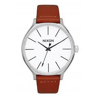 Nixon The Clique Leather Silver / Brown (A1250-1113)