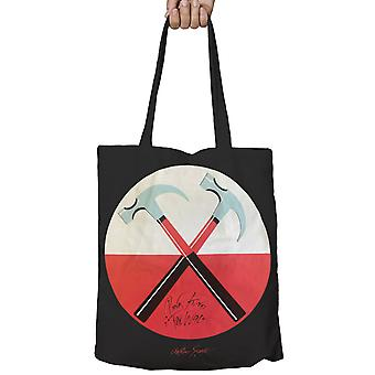Pink Floyd Tote Bag the Wall Hammers Logo Official Black zip top 38cm x 38cm