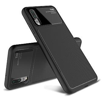 Design  Cover Schwarz für Huawei P20 TPU Silikon  Schutzhülle Cover Etui Tasche Hülle Neu Case