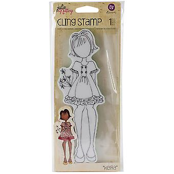 Julie Nutting Mixed Media Cling Rubber Stamps-Kiera 2.25