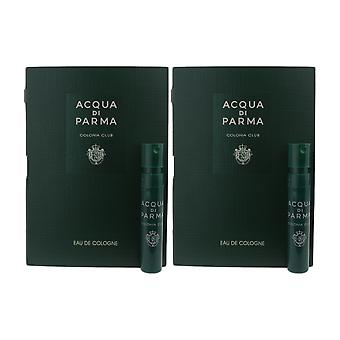 Acqua Di Parma 'Colonia Club' Eau De Cologne 0,04 oz Vial op kaart (Pack van 2)