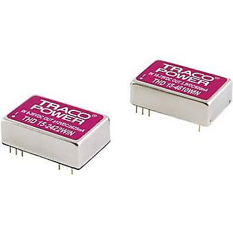 TracoPower THD 15-2422WIN DC/DC converter (print) 24 Vdc 12 Vdc, -12 Vdc 625 mA 15 W No. of outputs: 2 x