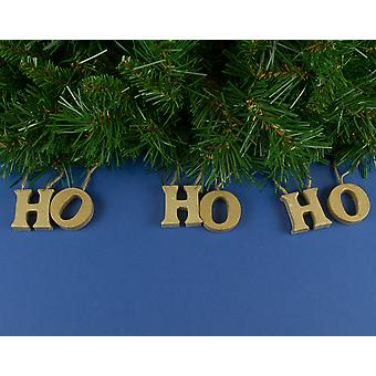 Hanging 40mm Paper Mache 'Ho Ho Ho' Letters to Decorate | Christmas Papier Mache