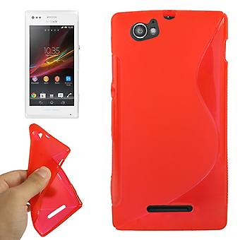 Mobiele case TPU case voor Sony Xperia M C1904 C1905 Red