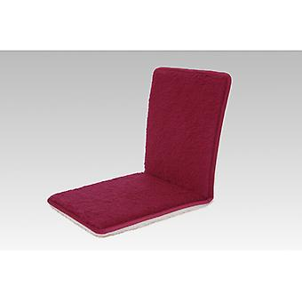 Double Chair cushions seat cushion with backrest bordeaux 80 x 37 cm wool