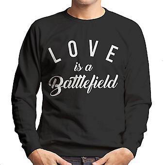 Liefde Is een slagveld lied lyrische mannen Sweatshirt