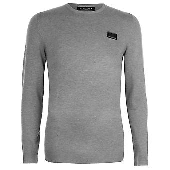 Born Rich Mens Howlite Knitted Jumper Classic Fit Sweater Pullover