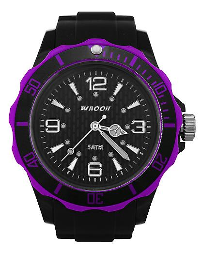 Waooh - Black Bezel Watch FC38
