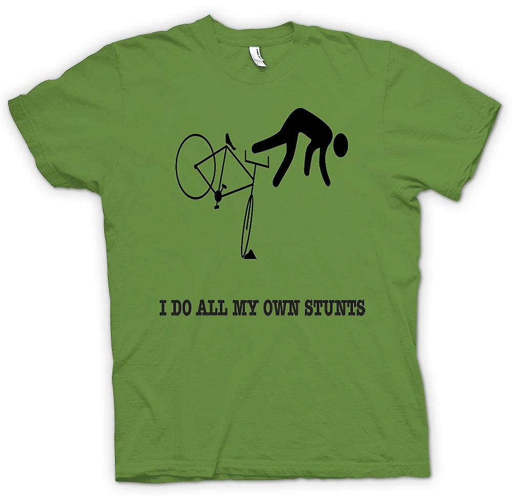 Mens T-shirt - Stunt Man Do All Stunts - Funny