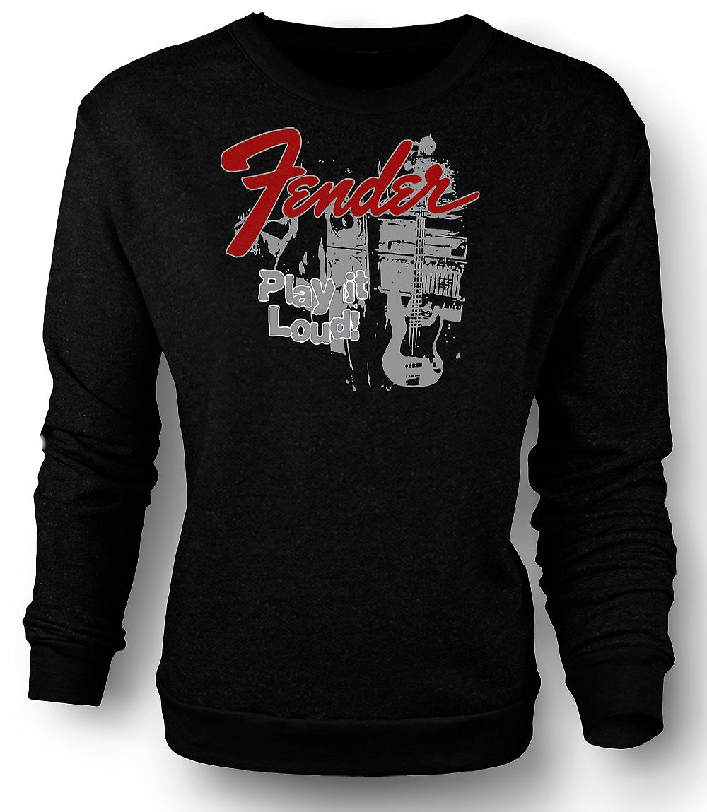 Mens Sweatshirt Fender Strat Play luid - gitaar