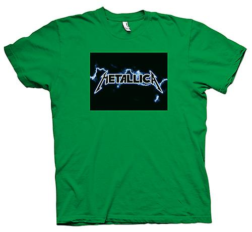 Mens t-skjorte - Metallica Logo - Rock Metal