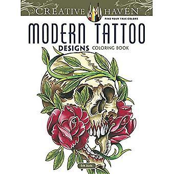 Haven créatif moderne Tattoo Designs Coloring Book (livres à colorier créatif Haven)
