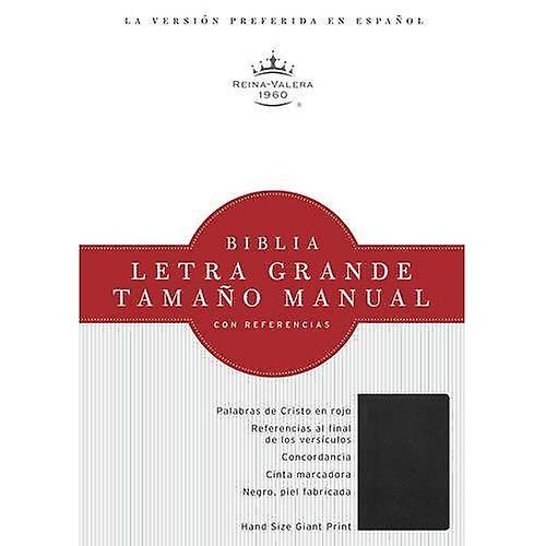 Biblia Letra Grande Tahommeo Manual Con Referencias-Rvr 1960