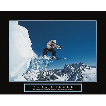 Persistence - Snowboarder Poster Print by Frontline
