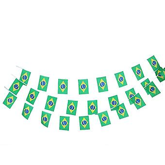 30PC Brazil Flag Rectangular Bunting Garland for National Celebrations TRIXES