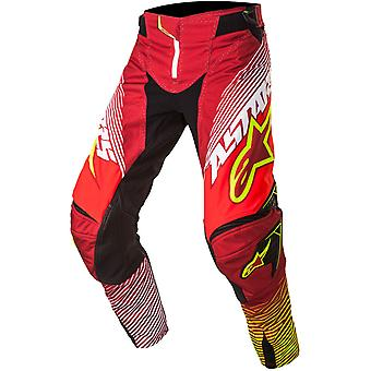 Alpinestars Red-White-Yellow 2017 Techstar Factory MX Pant