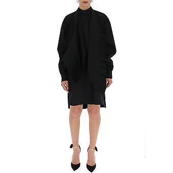 Schwarze Baumwoll-Kleid von Givenchy