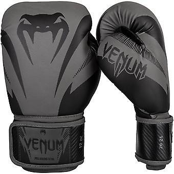 Venum inverkan krok och ögla utbildning boxningshandskar - grå/svart