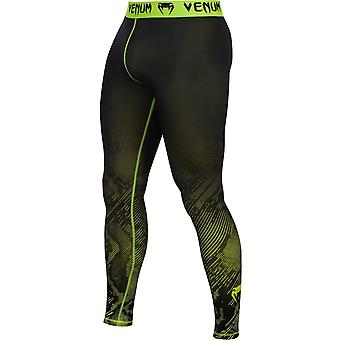 Venum Mens Fusion Compression Spats - Black/Yellow