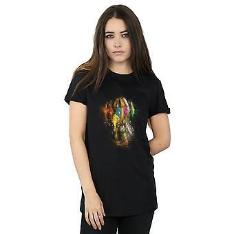 Marvel Women's Avengers Endgame Infinity Gauntlet Splatter Boyfriend Fit T-Shirt