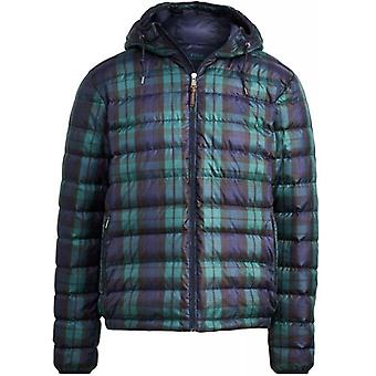 Ralph Lauren Polo Ralph Lauren Down Hooded Jacket Packable Mens Navy Check