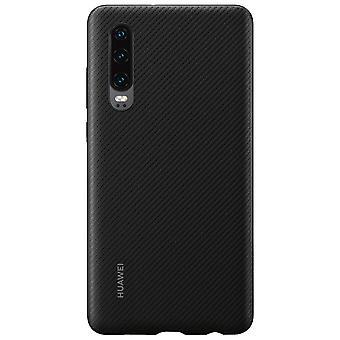 Caso de PU negro para Huawei P30 51992992 original silicona bolsa caso cáscara protectora