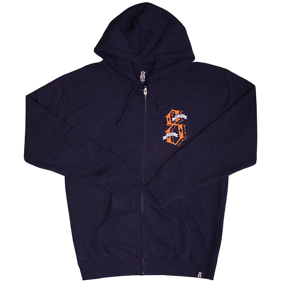Rebel8 Dukes of Destruction Zip Up Hoodie Navy
