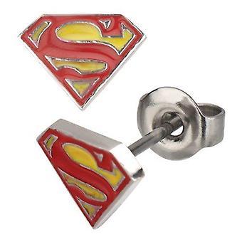 DC Comics Classic Superman Logo Stud Earrings